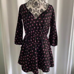 ModCloth Just Funky Tuxedo Cat Dress small pink